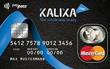 schwarze Kalixa Prepaid MasterCard